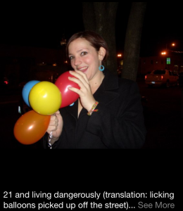 One of my favorite birthday photos ever, taken on my 21st by my friend Brittany. Classic Anne.